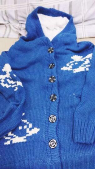 NIYANGE妮妍阁 品牌女装韩版 宽松大码大衣中长款带帽米奇加绒加厚毛衣针织 外套 女 牛仔蓝色 均码 晒单图