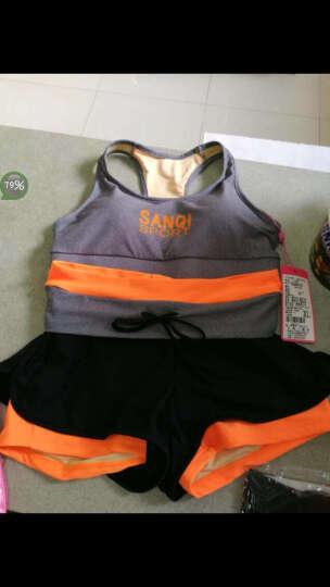 三奇 泳衣女比基尼分体平角BIKINI运动抹胸聚拢泳装健身服温泉泳衣 桔色 XL 晒单图