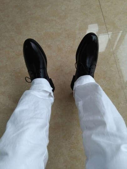 意利船长 男士皮鞋正装男士休闲鞋男鞋商务休闲皮鞋1663 S-1663黑色 40 晒单图