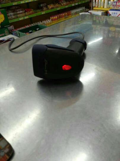 中崎(ZONERICH) ZQ-LS6025超市收银有线扫描枪条形码扫码枪快递专用扫描器 深灰色配支架 USB口 晒单图