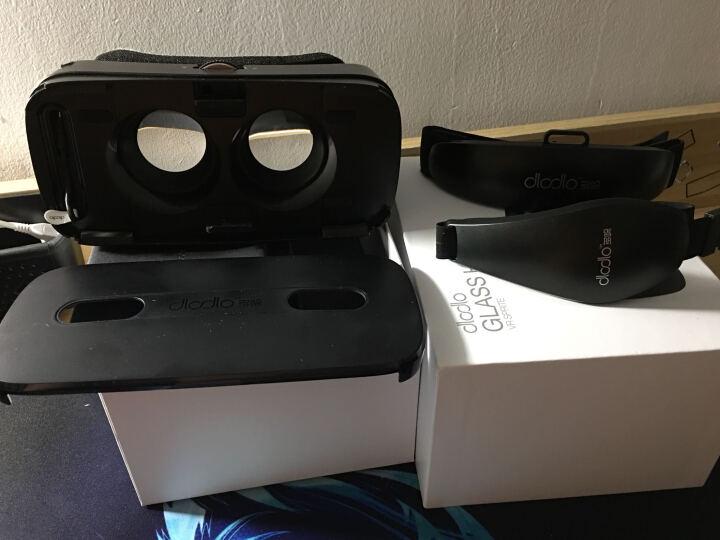 多哚vr智能3d眼镜手机头盔盒子4k视频资源游戏vr眼睛近视可调自带陀螺仪低延迟防眩晕 白色 晒单图