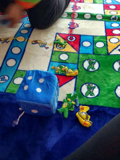床美人家纺 地垫宝宝爬行垫卧室客厅加厚毯子卡通游戏地垫飞行棋地垫儿童益智玩具生日礼物 黑白条纹 145cm*195cm 晒单图