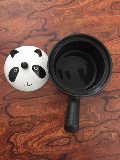 快乐之朱韩式奶锅耐热婴儿宝宝bb辅食炖煲煮奶粥米煲仔饭陶瓷砂锅 帅萌熊猫 晒单图