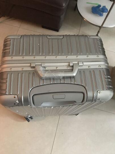 Zero零度拉杆箱 商务出行大容量行李箱男 万向轮旅行箱密码锁登机箱LH66018 升级款-银色 24寸 晒单图