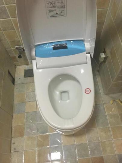 久帝智能马桶无水箱即热全自动遥控座便器洁身器智能马桶盖 香槟金 300坑距 晒单图