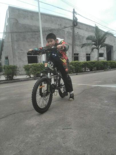 永久(FOREVER) 永久自行车20吋折叠山地自行车 儿童折叠自行车CF370 军绿色 晒单图