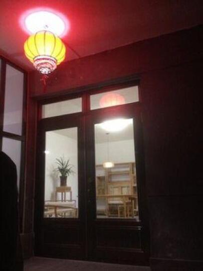 半缕光坊 新年春节中式灯笼吊灯 仿古红色喜庆吊灯笼 古典酒店茶楼吊灯 门厅走廊阳台过道过年装饰红灯笼 直径50*38高带LED光源 晒单图