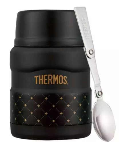 膳魔师THERMOS焖烧罐保温杯真空儿童不锈钢闷烧杯户外保鲜饭盒SK -黑菱格 晒单图