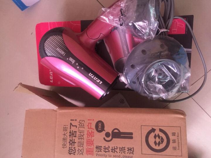 雷泰(LEATA) HD-C15D电吹风机 家用大功率1600W双负离子静音电吹风筒冷热风机 酒红色 晒单图
