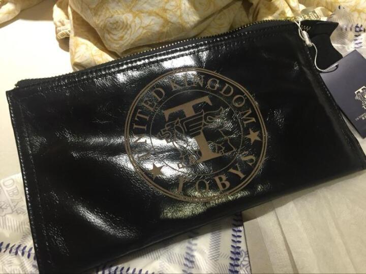托比斯(TOBYS)男士手包牛皮手抓包 男士商务夹包休闲手拿包钱包大容量软牛皮潮 黑色 晒单图