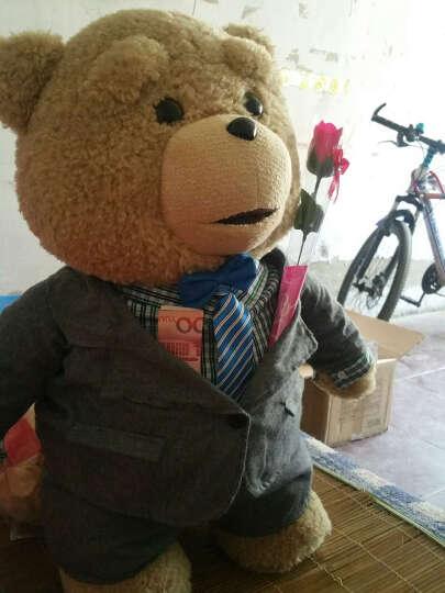魔法龙  美国电影会说话的ted泰迪熊公仔抱枕布娃娃毛绒玩具熊抱抱熊大狗熊猫玩偶礼物 新完整语言 超长录音 +摆造型 60厘米熊+赠品套餐+超人服装 晒单图