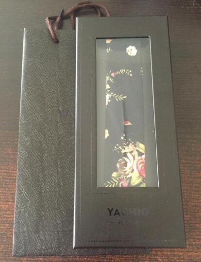 雅西欧 韩版窄版男士领带5cm棉质时尚个性花色潮领带男礼盒 刺绣春景5cm 晒单图