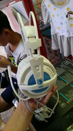 赛德斯 SADES/A55电脑游戏耳机 头戴式震动发光台式笔记本电竞游戏耳麦带麦克风话筒CF吃鸡耳机 白蓝震动版 晒单图