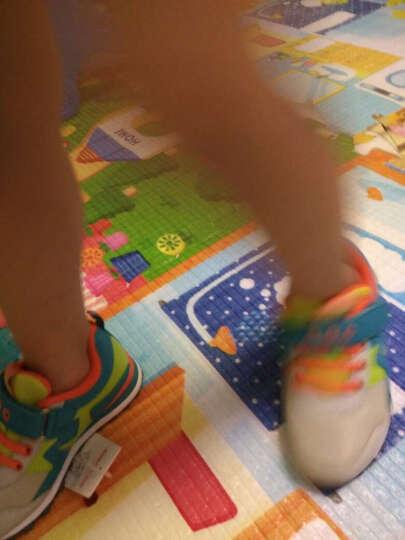 abckids童鞋男童鞋春秋新款儿童运动鞋休闲鞋韩版潮复古跑步鞋 卡其湖蓝 33码(内长约21.0cm) 晒单图