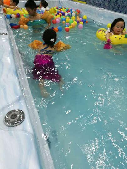 汉朴思泳装儿童美人鱼泳衣女童公主美人鱼尾巴服装女孩海边游泳分体泳装套装 三角贝壳全红 XXXL(150) 晒单图