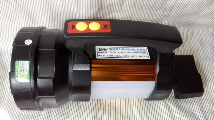 翰光HG200W强光手电筒防水充电手提远射夜钓钓鱼灯探照灯远射1500米 200W双测灯无支架 晒单图