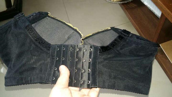 婷美聚拢文胸 调整型美背小胸收副乳女士内衣QW5523W 黑色 75B 晒单图