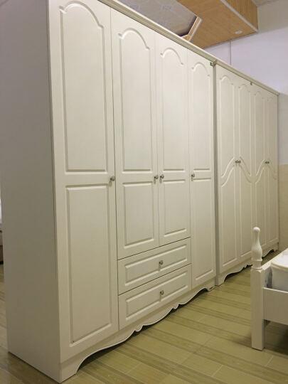 双虎(SUNHOO) 双虎家私白色衣柜四门板式衣柜大衣橱/木质柜子田园卧室家具13M1 如图四门衣柜 晒单图