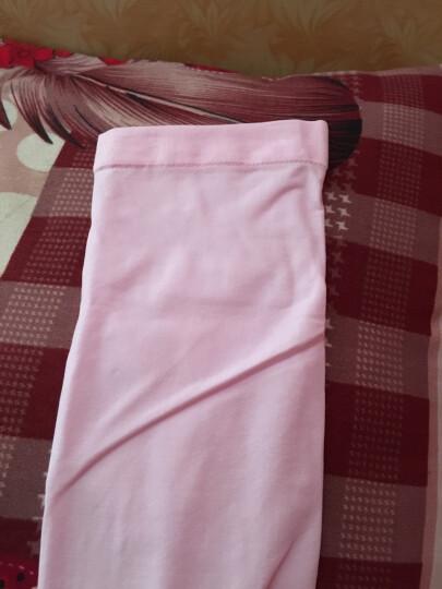 户外运动防晒冰丝袖套骑行护臂套袖高弹性男女防晒袖 粉色 晒单图