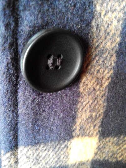 香榭亿恋2016秋冬新款韩版毛呢大衣女中长款单排扣格子外套1188 红黄格 L 晒单图
