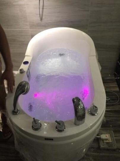 久摩王亚克力独立浴缸成人带龙头 按摩冲浪浴缸 Y-9099浴盆 空缸 1.5米 晒单图