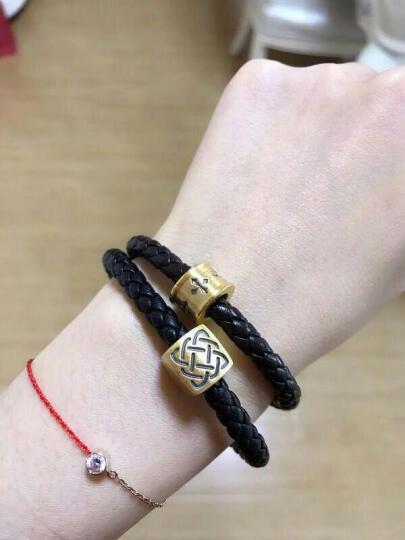 黛梦尼珠宝 黄金手链 3D硬足金吊坠 DIY守护智慧力量转运珠手链 送礼男女款 可做吊坠 力量(小版) 晒单图