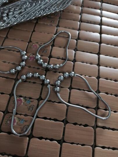善庆 浴帘挂环滚珠浴帘环挂钩环O型金属窗帘钩活扣环 葫芦款(304不锈钢环+铜滚珠) 8只装 晒单图