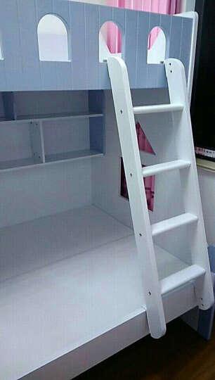 卡奴米 儿童双层床组合床小孩床上下床高低床子母床男孩女孩公主母子床上下铺拖床859# (蓝色)上下床+书架+挂梯 1200*1900 晒单图