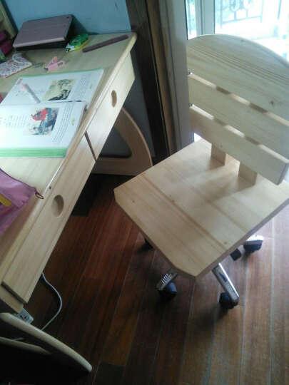 松邦 儿童书桌 青少年学习电脑桌芬兰松木写字台 1.2米书桌+书架+椅子 晒单图