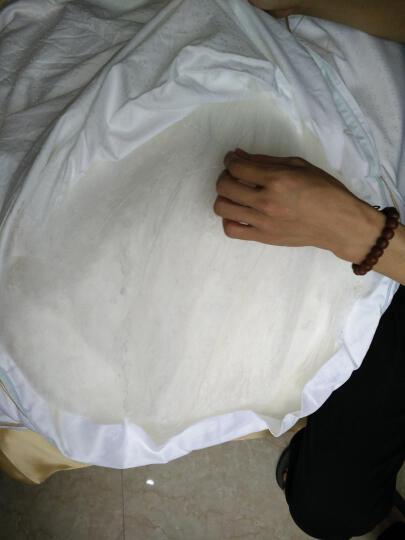 枕水人家 原产地100%桑蚕丝手工被芯亲肤舒适精选优质双宫茧优等品长丝单人冬季加厚保暖双人婚庆被 220x240cm白色提花 净蚕丝2斤 晒单图