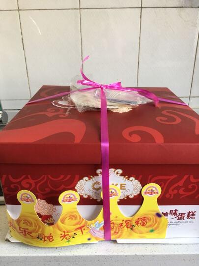 津津悦 巧克力水果奶油儿童祝寿蛋糕 生日蛋糕全国同城预定配送北京上海广州深圳天津武汉杭州 圣诞狂欢夜(19只红玫瑰花束搭配蛋糕) 16寸 晒单图