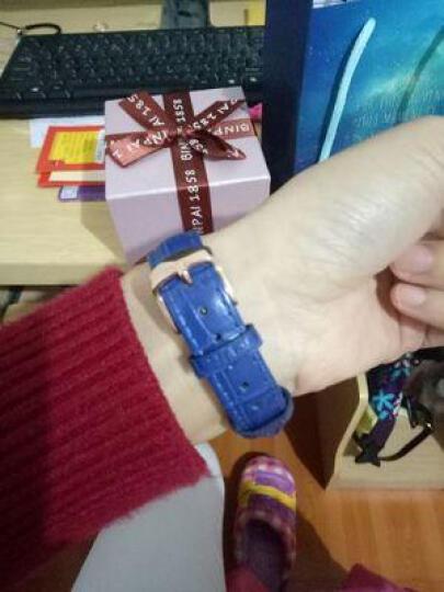 宾派(BinPai)手表女士真皮带璀璨星际钢带女表 简约女式腕表七夕情人节礼物送女友时尚防水石英表 皮带款-红色 晒单图