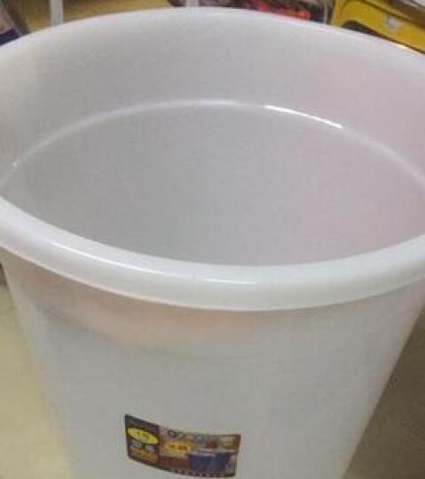 塑料水桶大号工业圆桶户外垃圾桶带盖圆形收纳桶家用储水桶酒店厨房环卫物业食堂用垃圾桶 150L加厚白色(约190斤水) 晒单图