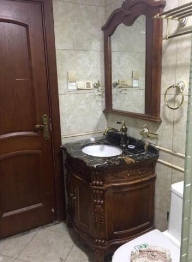浴室柜仿古卫浴柜实木欧式浴室柜落地组合