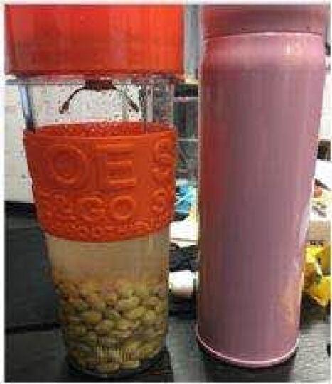 思乐谊(SANOE) B102榨汁机 便携迷你 家用 榨汁杯 果汁 搅拌 奶昔 研磨电动 橙色 晒单图