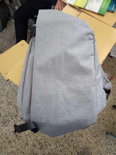 一趣(AFUN)商务笔记本电脑包 双肩包女  大容量男士背包  休闲 背包男女学生书包男包 浅灰色 17英寸 晒单图