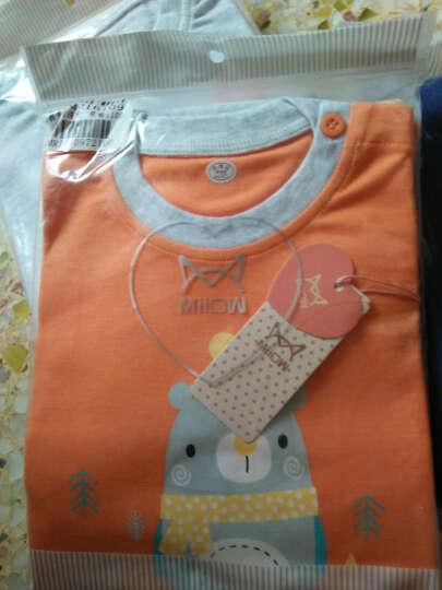 猫人春季新款婴儿休闲卫衣套男女宝宝时尚肩扣套装儿童外出服 蝴蝶结小熊-亮绿 90CM 晒单图