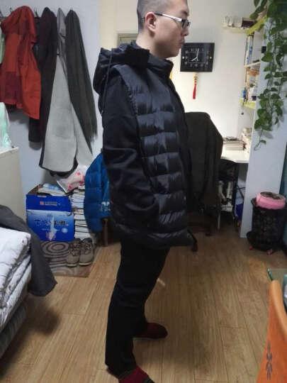 戈思哲 卫衣男春秋新款男装运动服跑步衣服健身男士休闲套装 黑色薄款加黑色马甲 3XL 晒单图