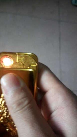 907电气两用打火机防风创意个性男女usb充电电子点烟器新款智能充气 兄弟金色 晒单图