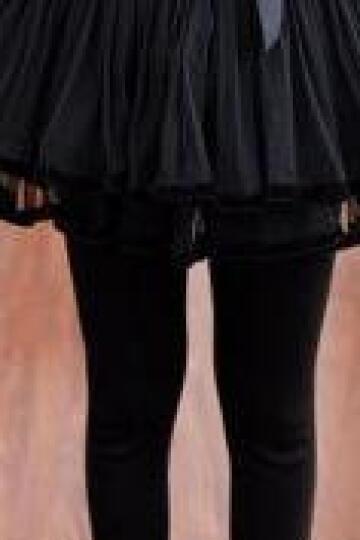LOVEBBF.WLP&GYF 2018春款童装 女童打底裤 儿童棉质裙裤中大童假两件裤 紫色DDK-01 120cm 晒单图