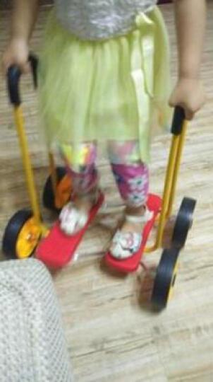 儿童平衡踩踏车四轮平衡脚踏车感统训练教具健身玩具用品 小号蓝色 晒单图