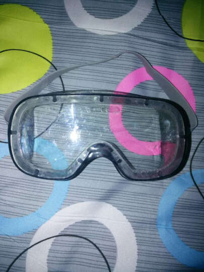 代尔塔 防护眼镜 男女安全眼镜 PC护目镜 透明防化眼镜 防飞溅 防风防尘眼罩101125 晒单图