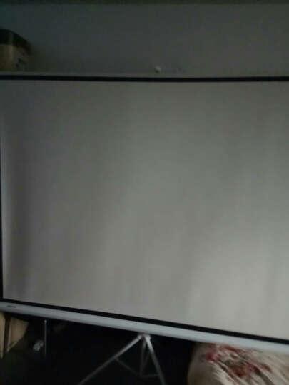 美硕(MEISHUO)投影幕布投影仪幕布 投影机幕布  投影仪通用支架幕布 移动便携屏幕 高清白玻纤材质 100英寸16比9支架幕 晒单图