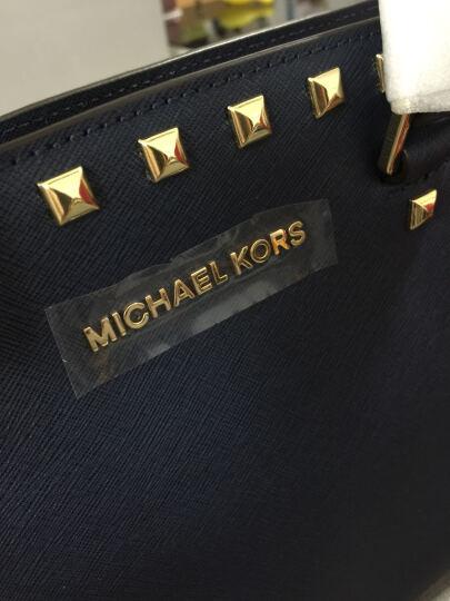 迈克·科尔斯 MICHAEL KORS 女款咖啡色铆钉装饰牛皮手提单肩斜挎包 30T3GSMS3L LUGGAGE 晒单图