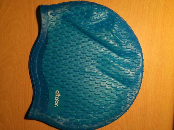 希途(Citoor) 游泳帽长发防水硅胶男女士加大泡泡水滴护耳帽子C2Y17 粉红色 晒单图