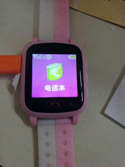 儿童电话手表插卡学生防水触摸彩屏GPS定位防丢男女孩通话手表手机 粉色 晒单图