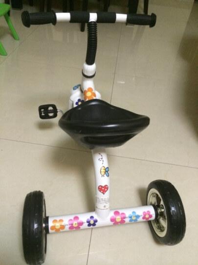 货到付款儿童三轮车儿童脚踏车宝宝三轮自行车小孩脚踏车婴儿三轮童车 充气轮蓝色 晒单图