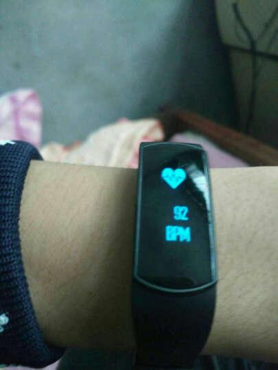 博之轮(BOZLUN)学生运动电子表男女款潮流时尚手表智能手环防水心率计步智能提醒睡眠监测 白色-心率血氧血压升级版B15S 晒单图