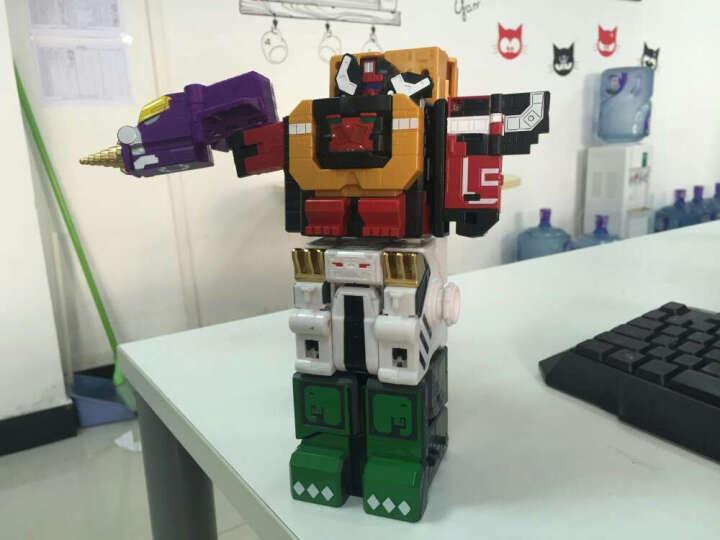 儿童神兽金刚3玩具合体变形玩具男孩早教益智玩具组合套装方块模型耐摔机器人金刚数字动物战队 超能兽王4合1 晒单图