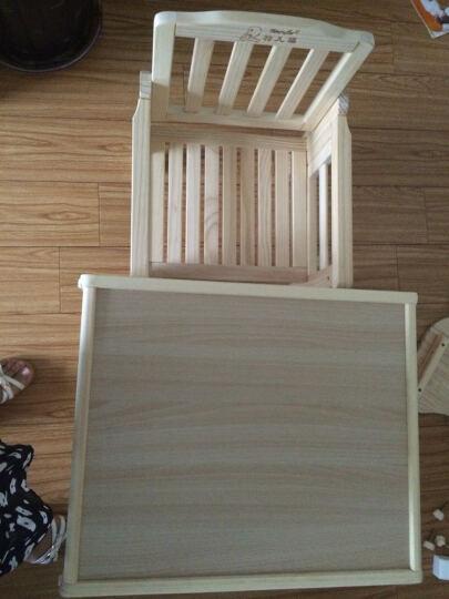 特儿福(TEERFU) 特儿福儿童餐椅实木宝宝餐椅多功能婴儿餐椅可折叠宝宝吃饭餐桌 Q5塑料餐盘-粉色小马坐垫 晒单图